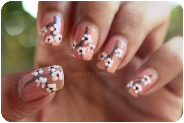 Cherry Blossom Nail Art Tutorial, Pakistani Nail Art Beauty Book Blog, Pakistani Nail Art Blog, Pakistani Beauty Blog, Pakistani Book Blog
