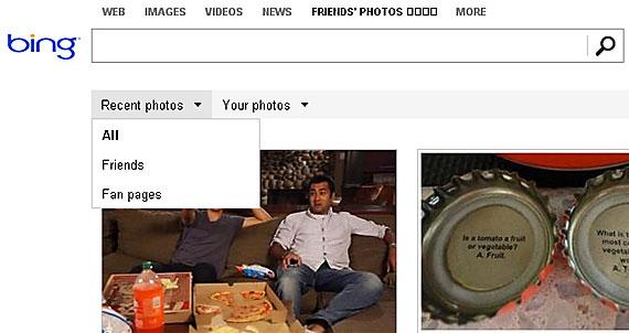 "Functionalitatea Bing ""Friends' Photo"" permite utilizatorilor sa caute imagini postate pe Facebook"