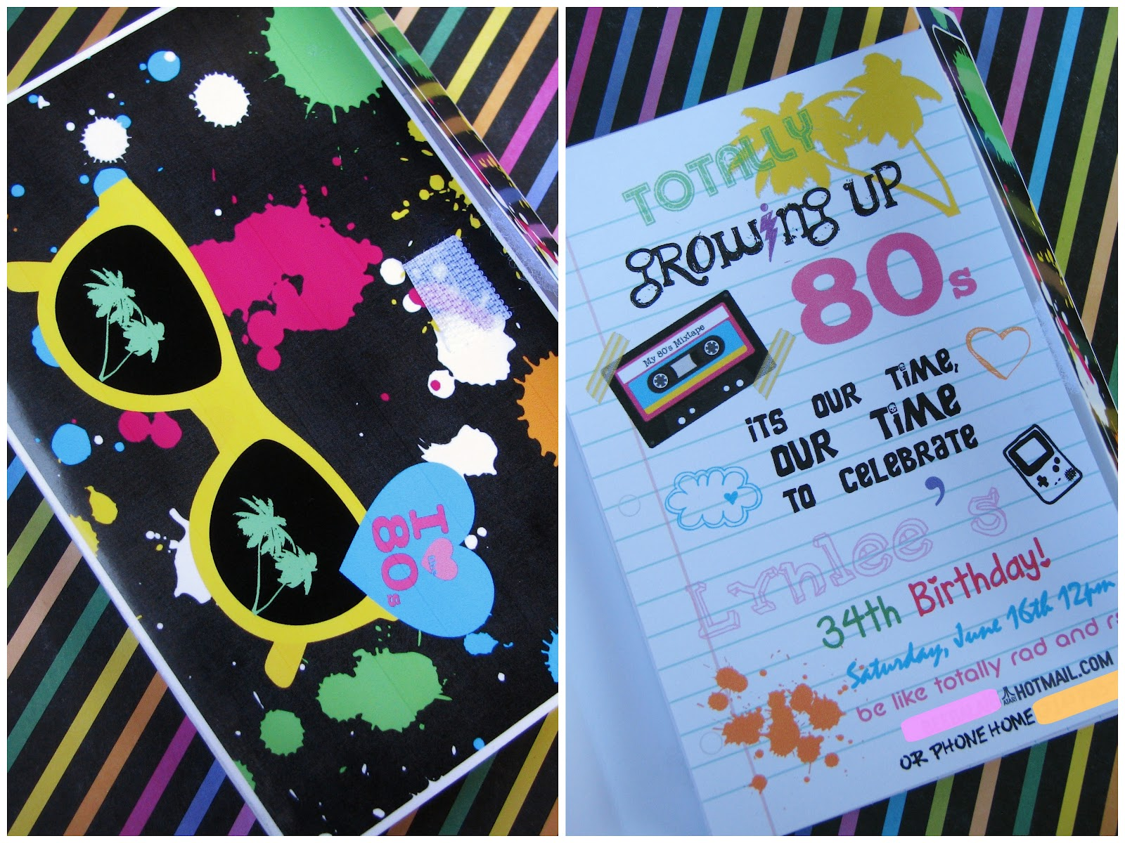 Cassette Tape Invitations with awesome invitation design