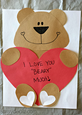 Valentine s day heart shaped animal crafts for kids crafty morning