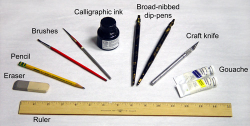 The golden fingers calligraphy introduction