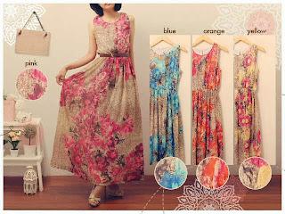 Nadia Flower Maxi Dress