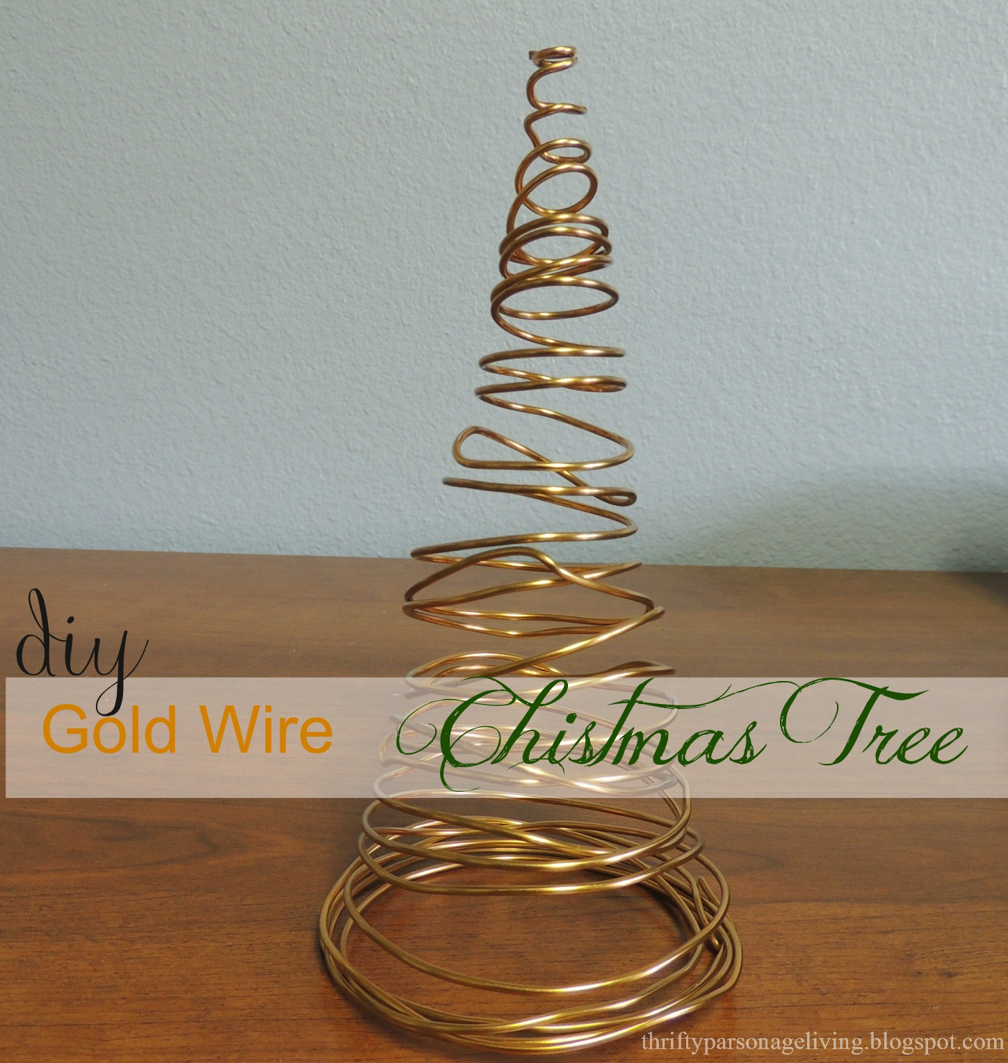 Thrifty parsonage living diy christmas tree