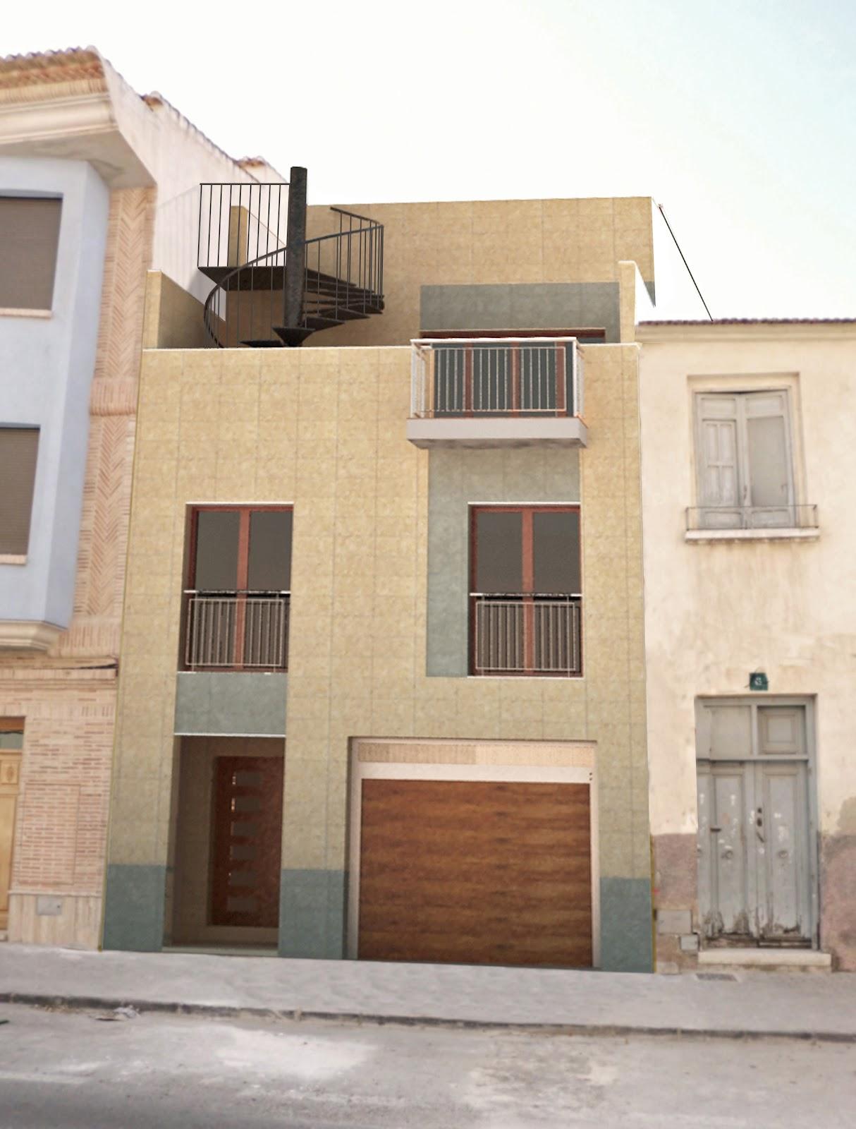 Vivienda unifamiliar entre medianeras for Fachadas de casas modernas entre medianeras