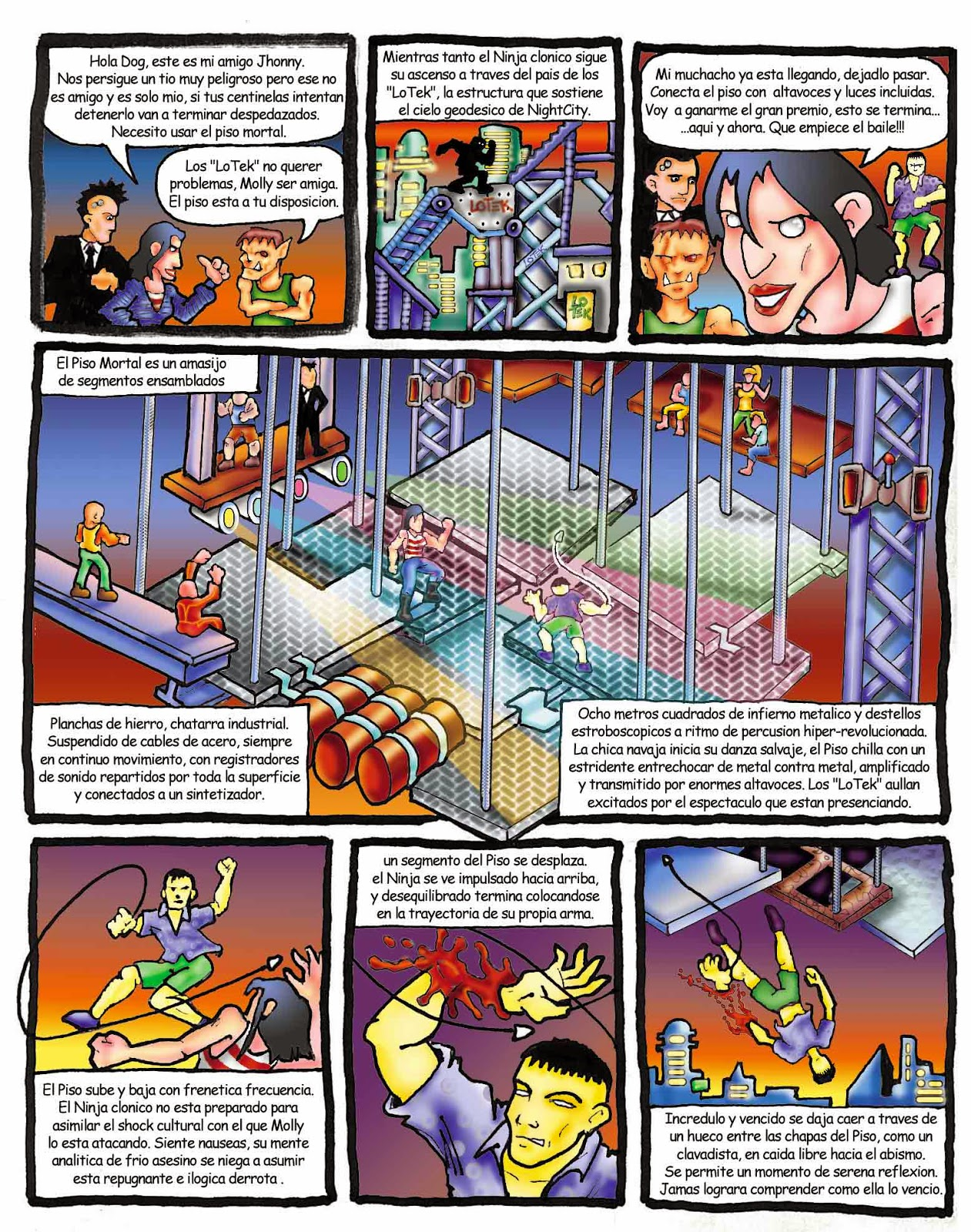 ciberpunk, william gibson, jhonny mnemonic, quemando cromo, burning chrome, comic, ilustracion, dibujos