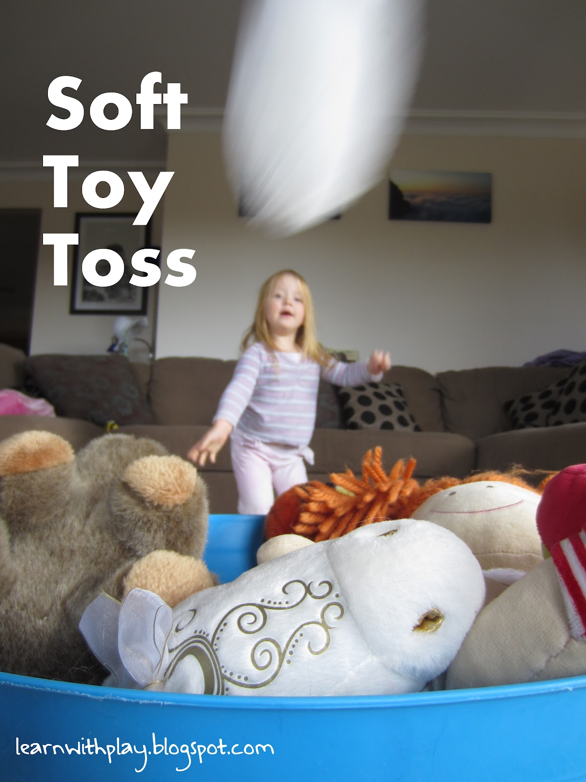 Game Toys To Practice : Learn with play at home soft toy toss