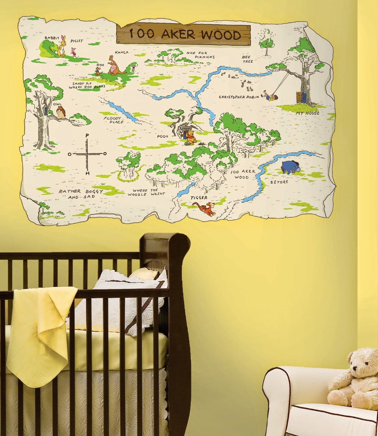 Winnie the pooh decorations Roommates Rmk1502Slm Pooh And Friends ...
