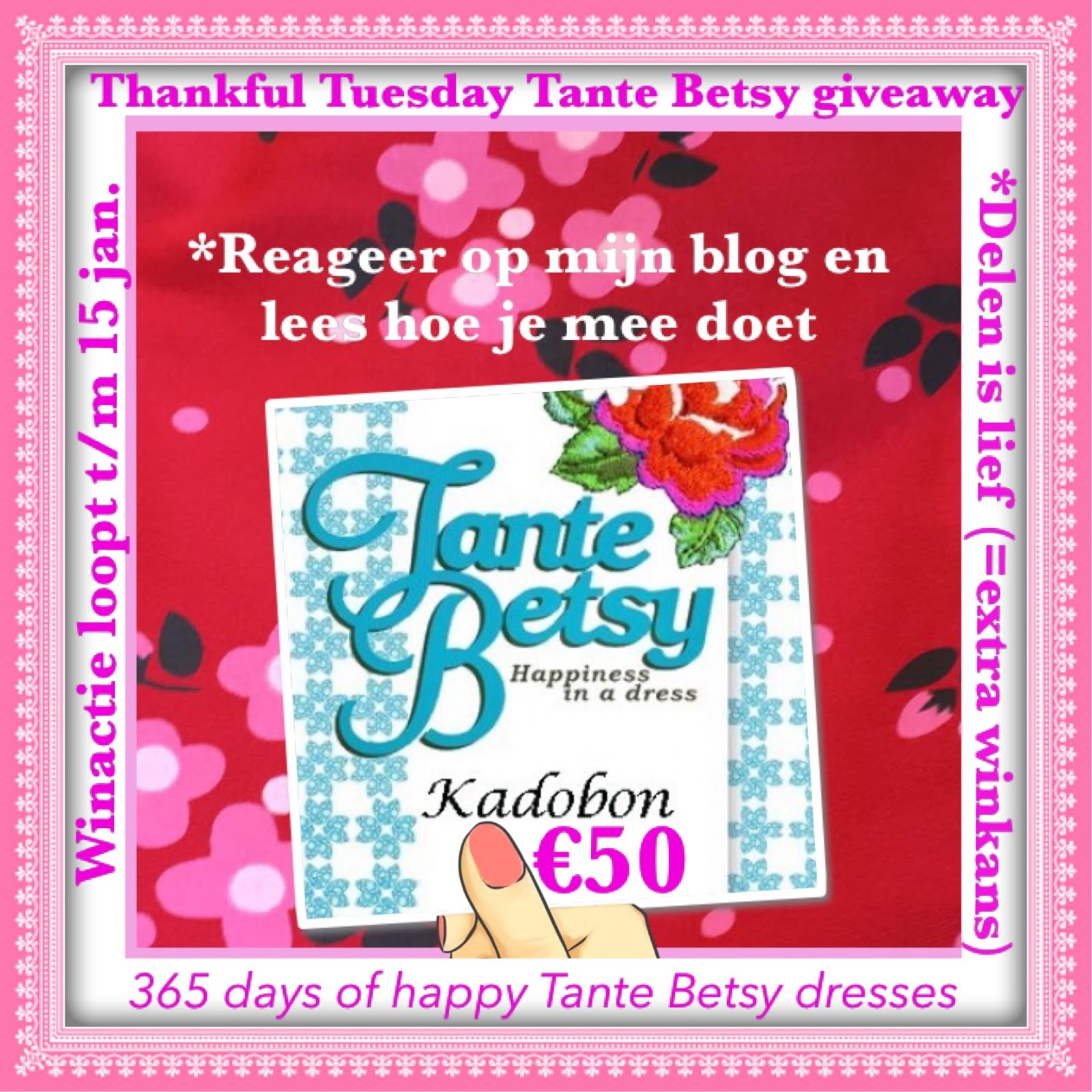 Thankful Tuesday Tante Betsy Giveaway