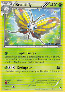 Beautifly Dragons Exalted Pokemon Card