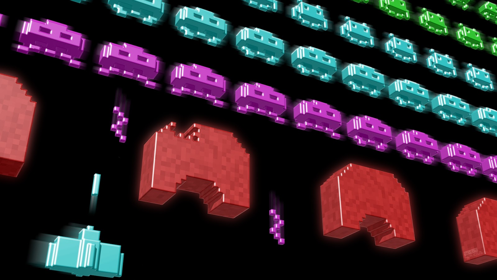 More retro style space invaders desktop wallpaper graphics for Space invaders