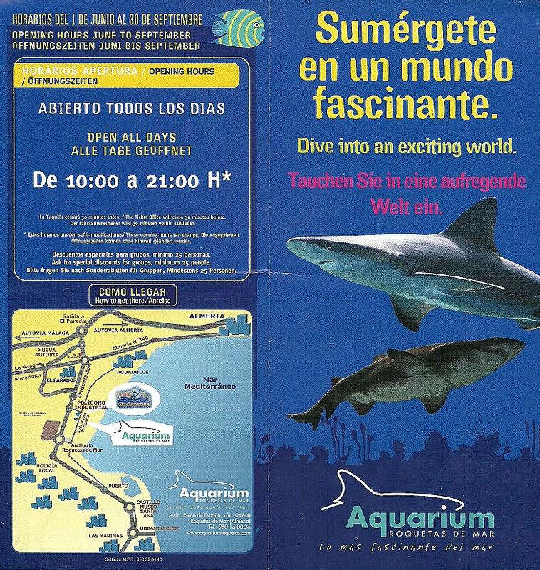 The traveler 39 s drawer roquetas de mar almer a espa a Aquarium en roquetas de mar