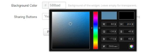 Memilih warna widget