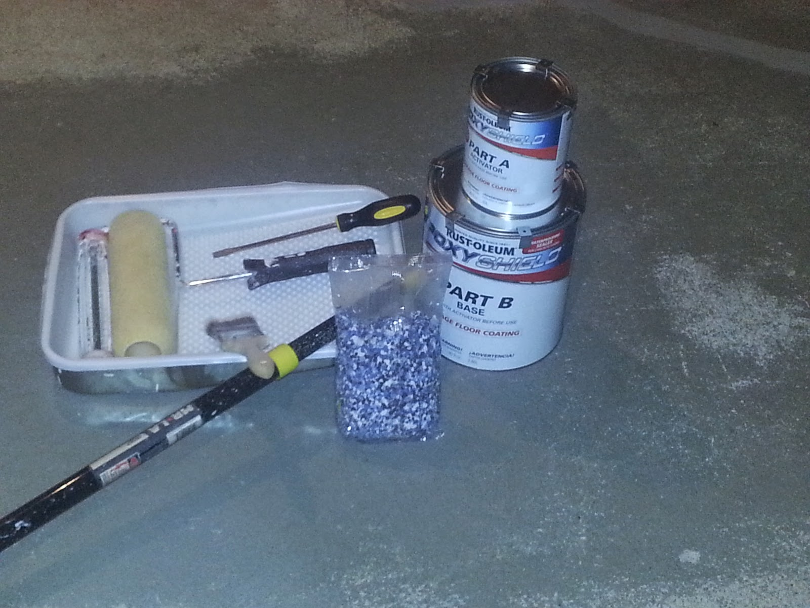 EpoxyShield Garage Floor Project, Part 5 Materials