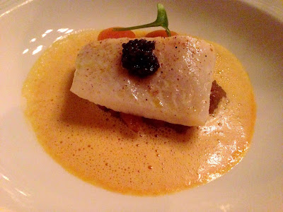 Stitch and Bear - Restaurant Forty One - Turbot with Artichokes and Mussel Pumpkin Nage