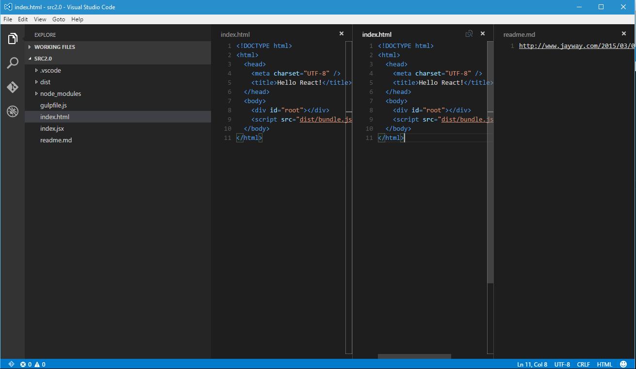 visual studio code html