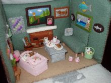 Felt Doll House Inside