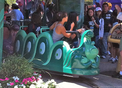 Alice Wonderland caterpillar caterpillars ride vehicle Disneyland