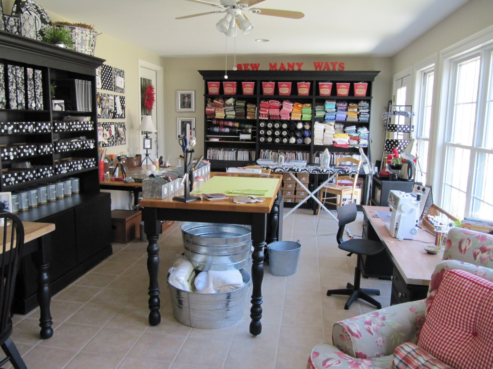 Sewing Craft Room Organization Ideas
