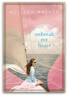 Cover for Melissa Walker Unbreak My Heart summer read pink heart boating sails sunglasses