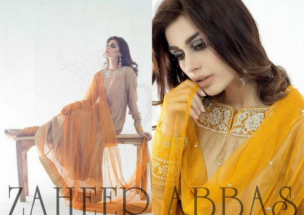 Zaheer Abbas Eid Collection 2014 wwwfashionhuntworldblogspot 3  - Zaheer Abbas Eid Collection 2014 For Women