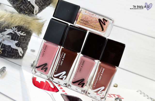 Manhattan Loves Sparkling Nudes Last & Shine Nail Polishes