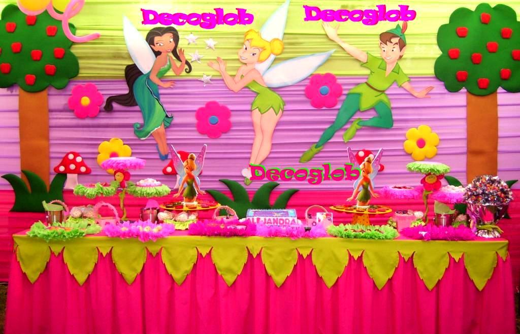 Decoracion tinkerbell para fiestas - Decoracion con marcos ...