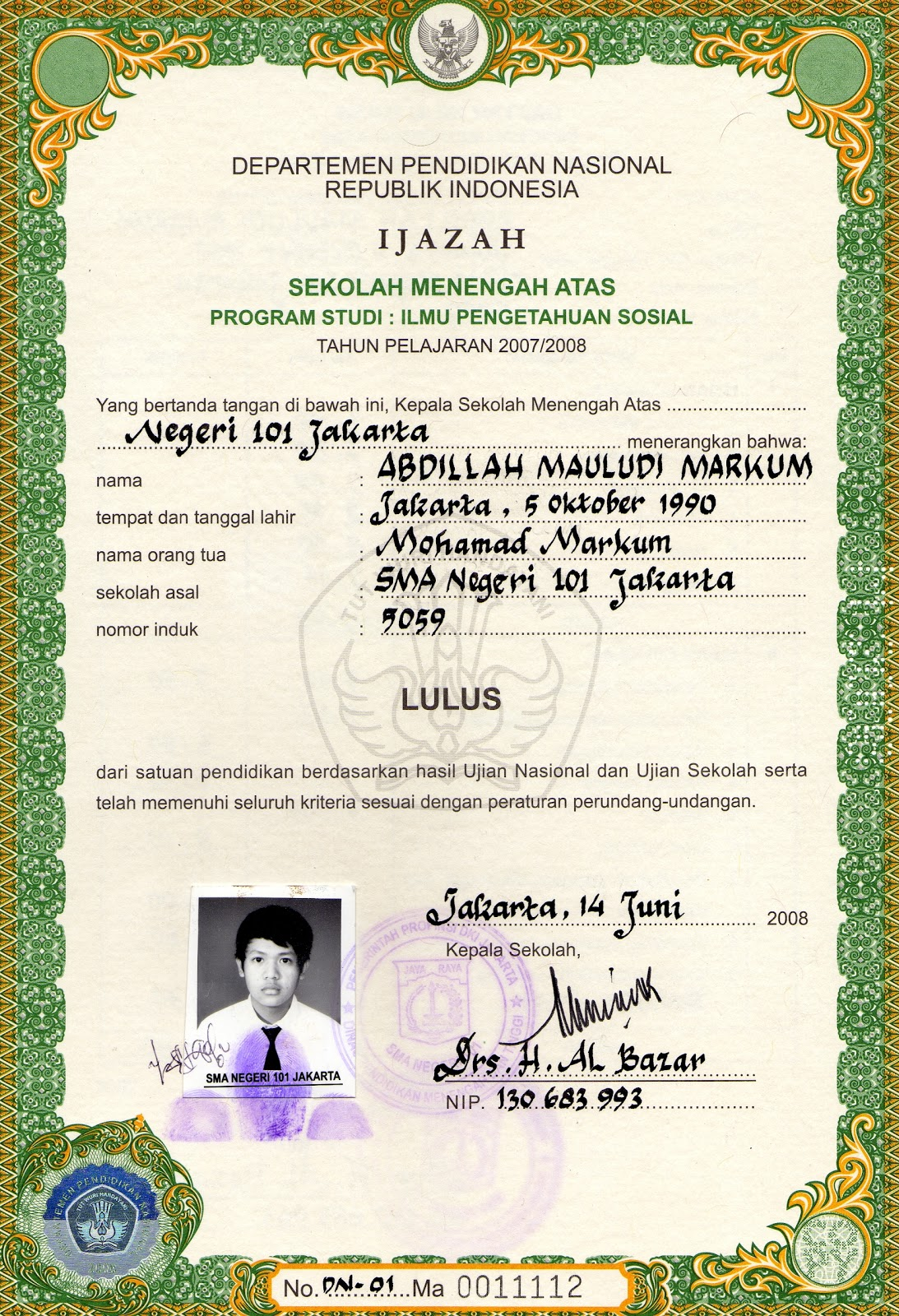 Pin Ijazah Smp Pictures Of Sd Pelauts Com 1060x1480 on ...