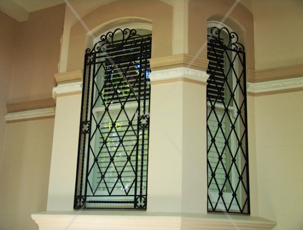 Home window iron grill designs ideas new home designs for Window design for house in india