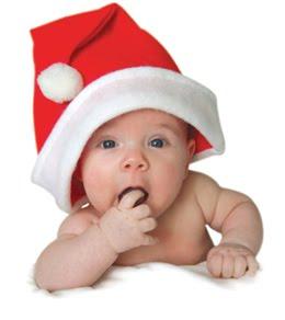 Funny Christmas baby.