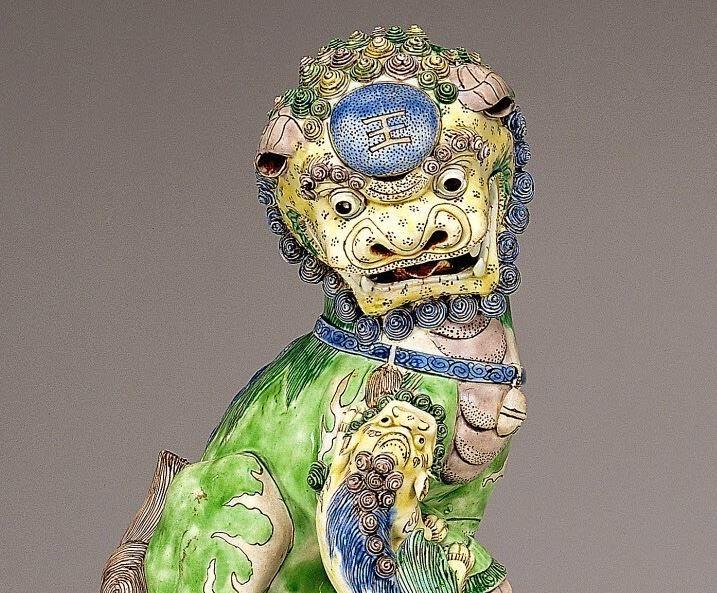 "<img src=""Kangxi Porcelain Foo Lion detail .jpg"" alt="" Famille Verte on Biscuit"">"