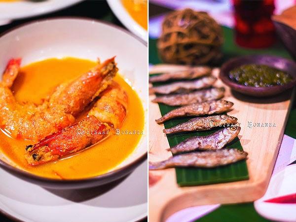 Left: Gulai Udang Pancet Besar | Right: Ikan Bilih Lado Ijo (Culinary Bonanza)