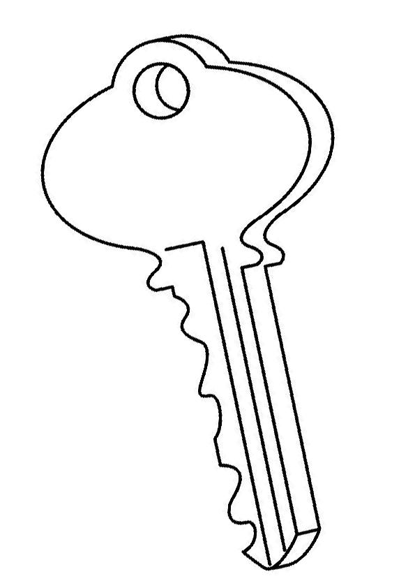 Dibujo de llave para colorear | Dibujos para colorear