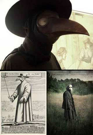 Topeng seram mirip burung - masker dokter masa lalu