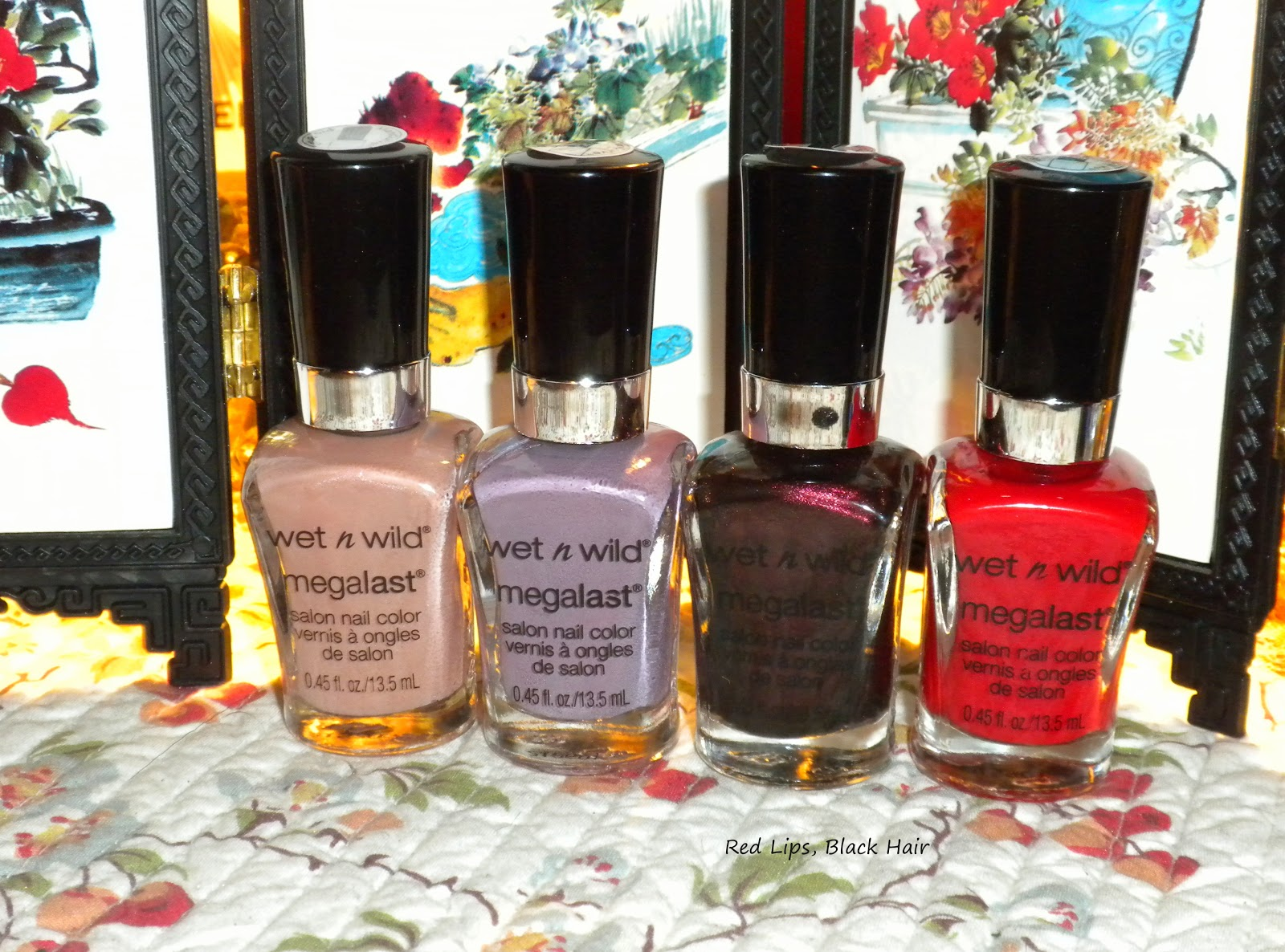 Red Lips, Black Hair: Wet N Wild Megalast Salon Nail Color Haul