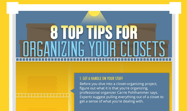 How to organize your closet infographic visualistan for How to organize your closets