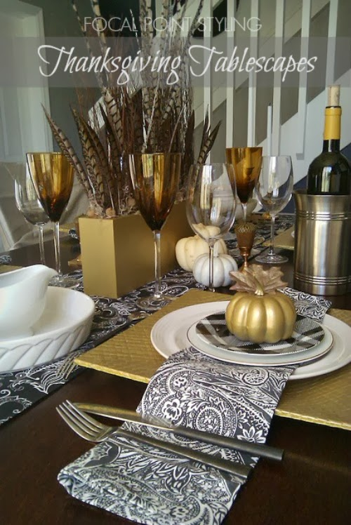 FOCAL POINT STYLING: GOLDEN AUTUMN THANKSGIVING TABLESCAPE