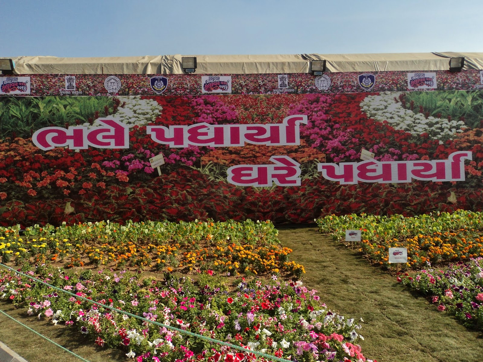 welcome to ahmedabad flower show