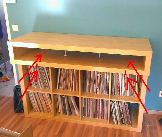 minimalistic fast buildup dj console ikea hackers ikea hackers. Black Bedroom Furniture Sets. Home Design Ideas