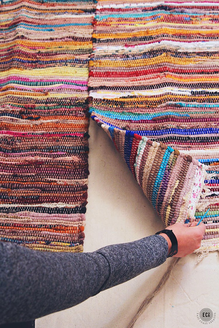 Fabric Rug Diy Diy Monday Rugs Ohoh Blog