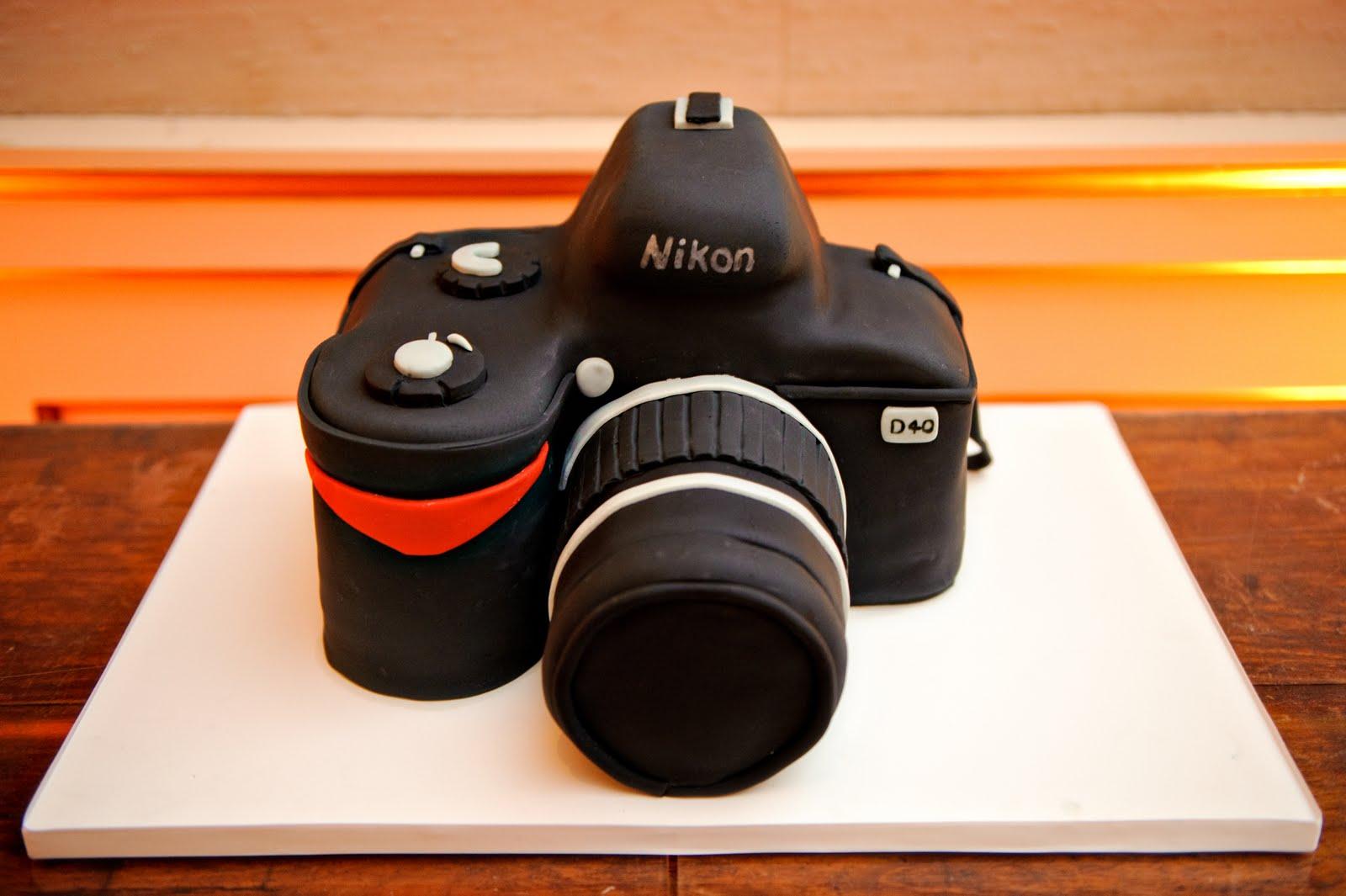 Camera Cake Design