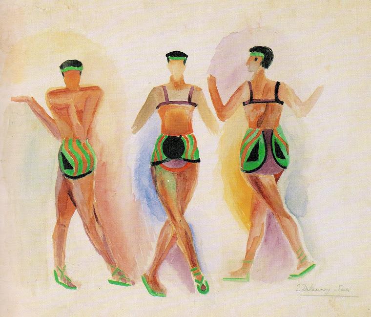 Balé: Cleópatra, com figurinos moderníssimos de Sonia Delaunay-Terk (Paris, 1917).