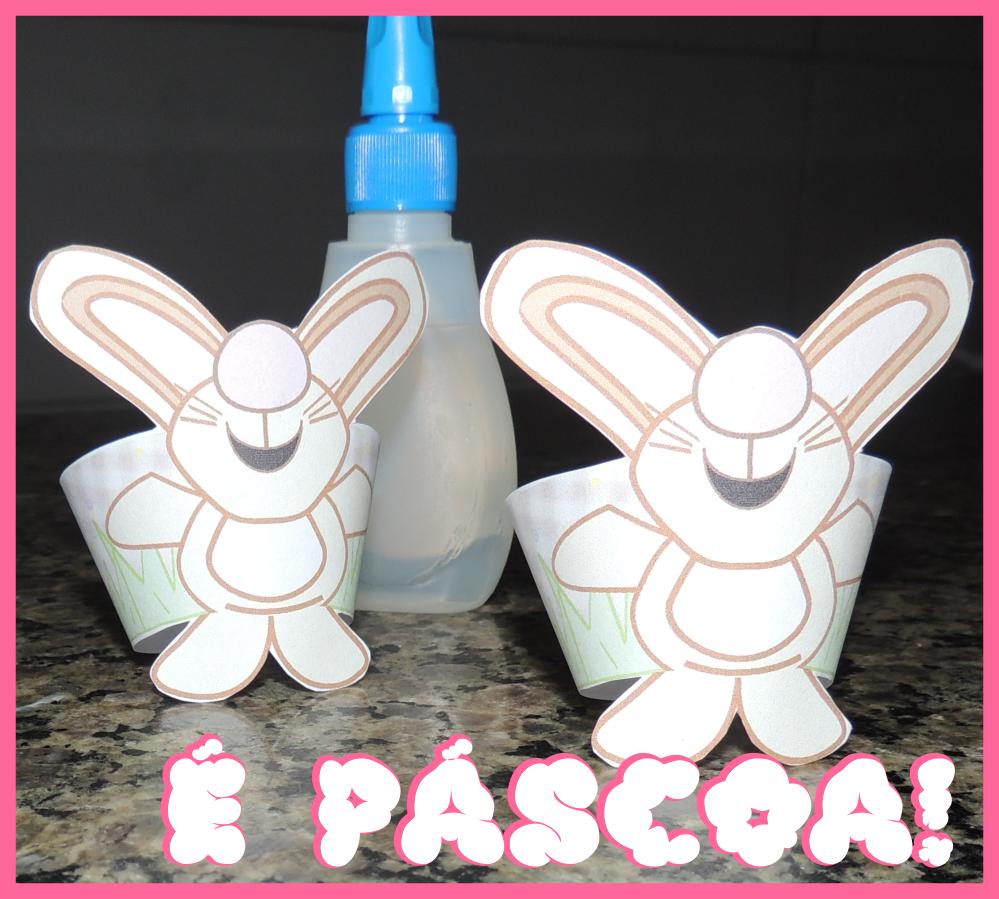 Wrappers para Cupcake Coelhinho da Páscoa- Super dica