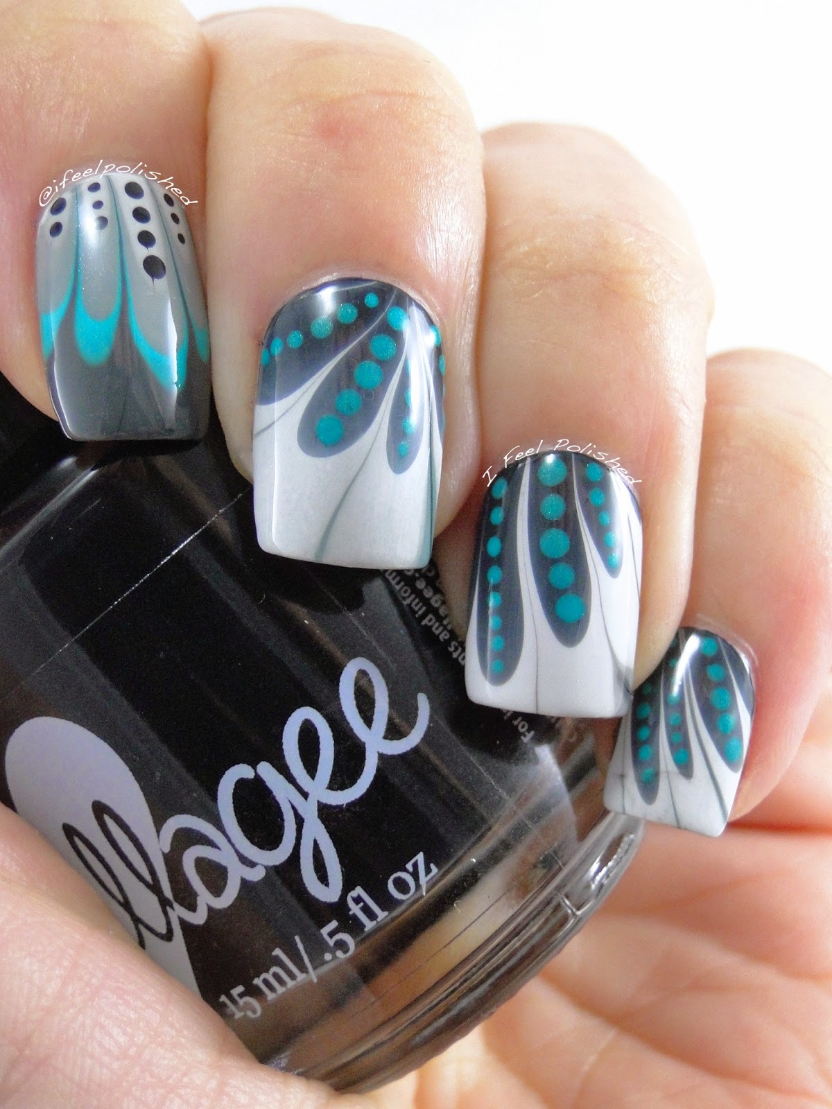 I Feel Polished!: Dressy Water Marble