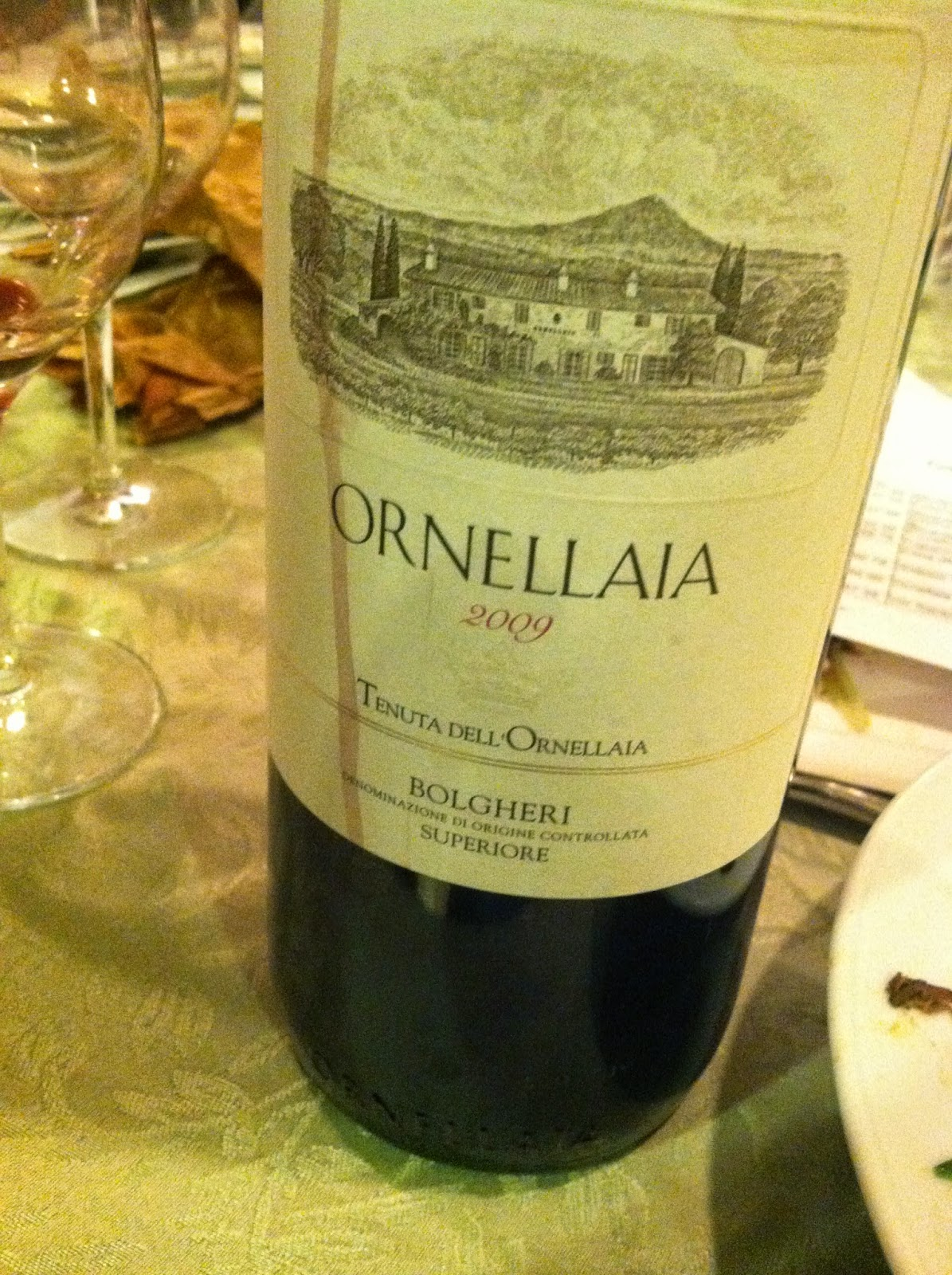 2009 Tenuta Dell'Ornellaia Bolgheri Superiore. Cooking Chat #wine pick.