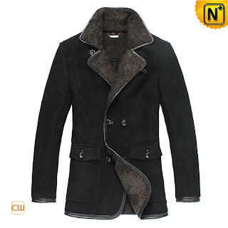 Black Lamb Fur Coat