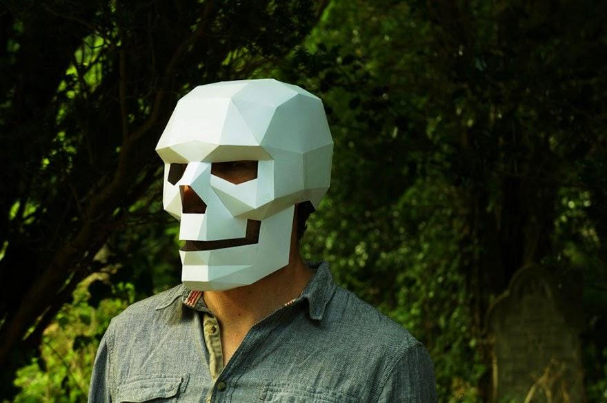 Как сделать маску череп из бумаги