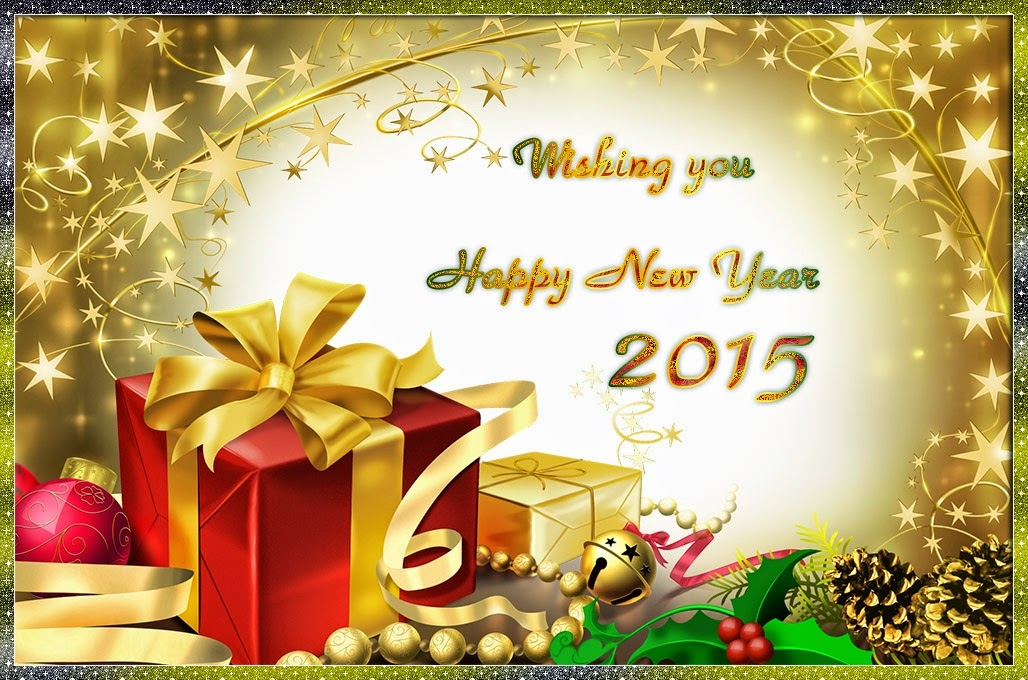 Gift Box Happy New Year Wishes 2015 Images