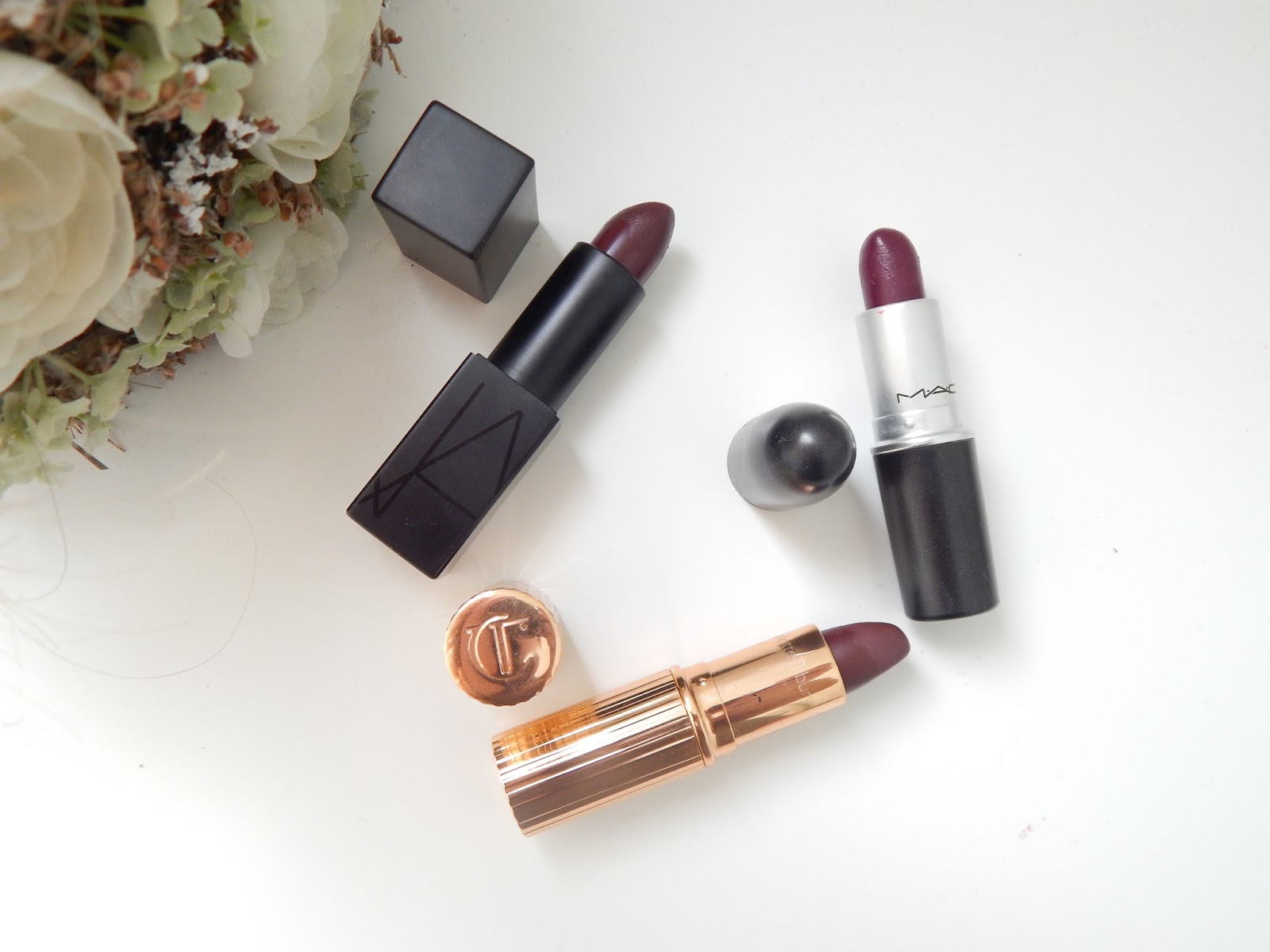 Autumn Lipsticks ft Nars Mac and Charlotte Tilbury