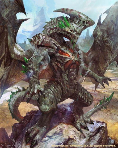 HongWen xaeroaaa deviantart ilustrações fantasia ficção científica Dragão - regular