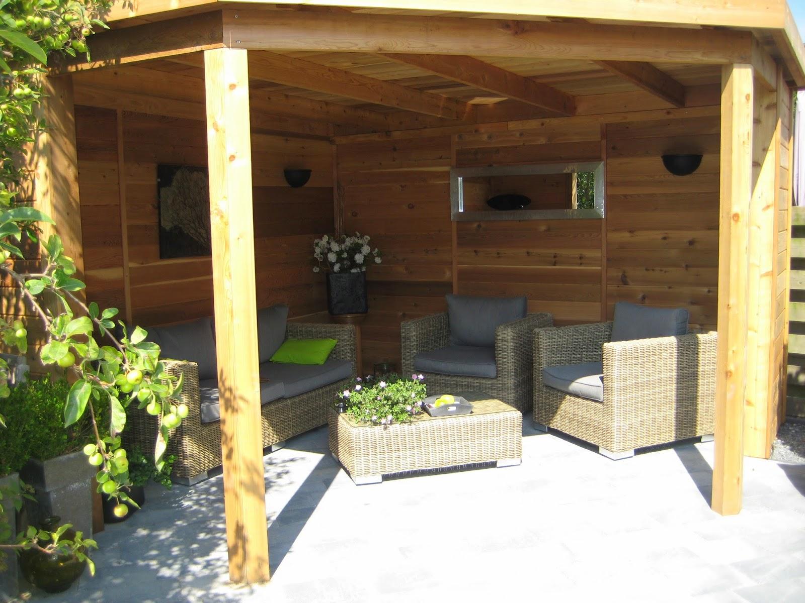 Tuinhuisjes en prieeltjes prieel 5 kantig met platdak in vlissingen zeeland - Prieel buiten ...